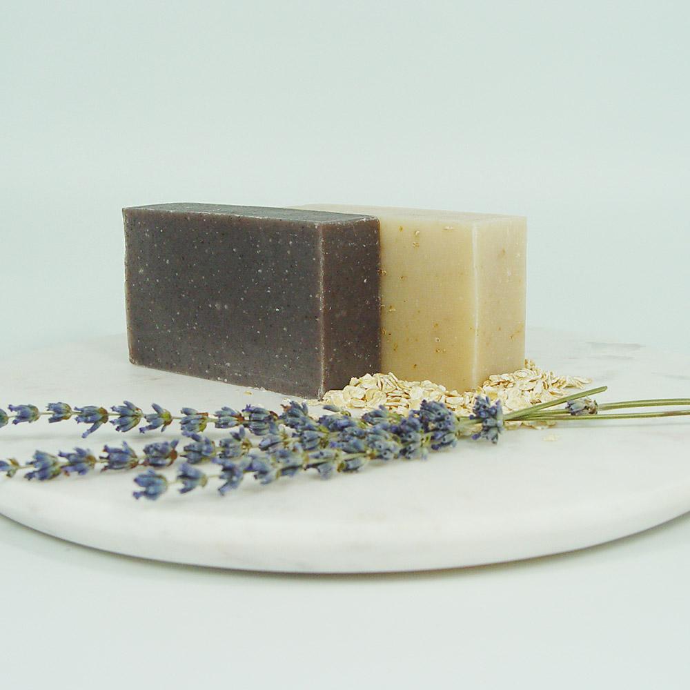 earth based organics lavender and shea honey oat bar soap set
